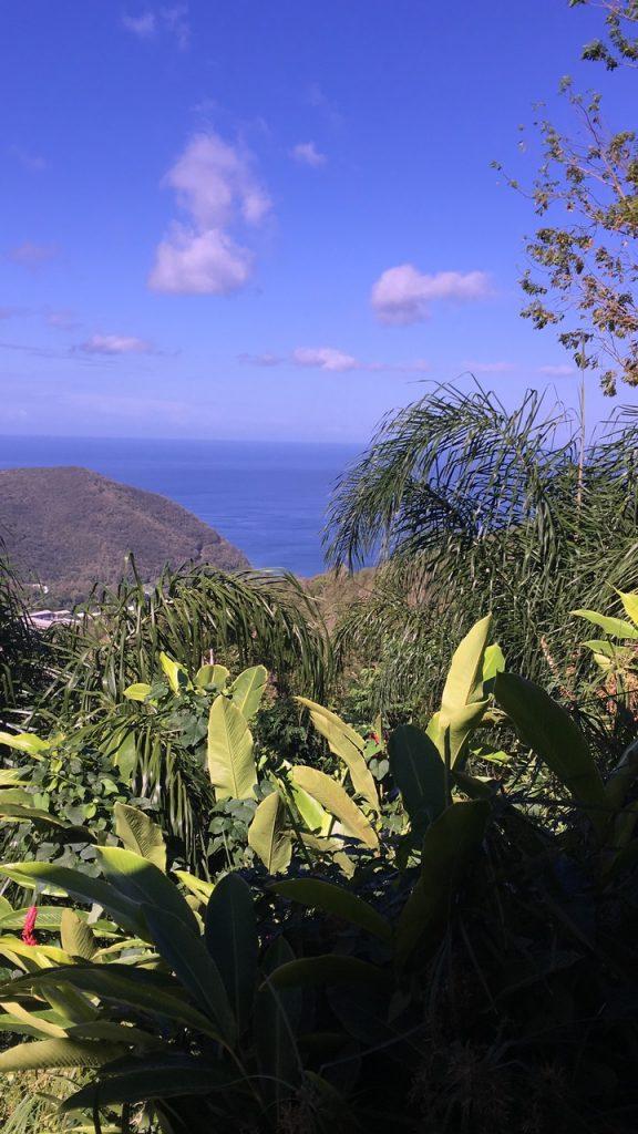 Casa rural con vistas al mar del Caribe
